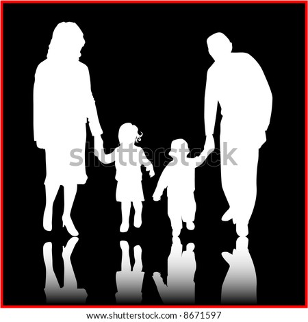 Ideal family , vector work - stock vector