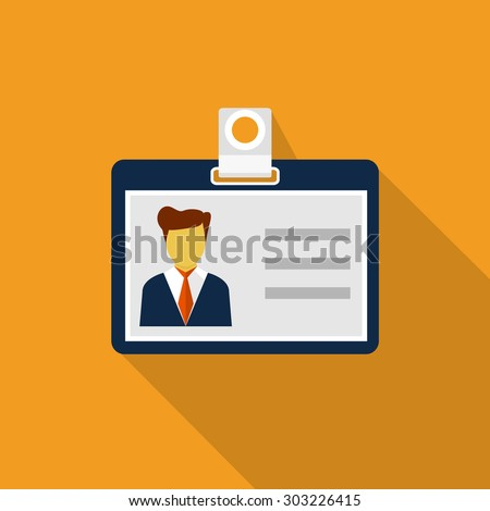 Identification card - stock vector