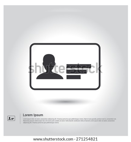 License icon stock images royalty free images vectors identification card icon pictogram icon on gray background vector illustration for web site voltagebd Choice Image