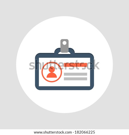 Identification card icon. Vector illustration - stock vector