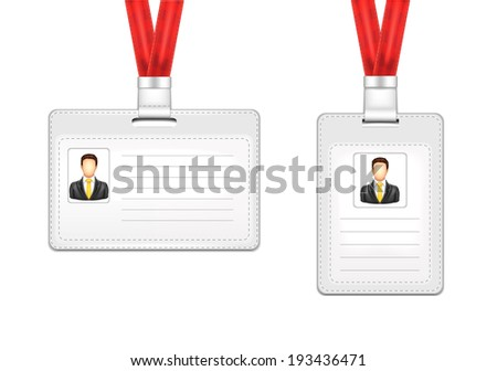 Identification Card Man - stock vector