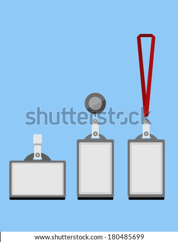 identification card templates with lanyard. vector illustration - stock vector