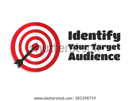 Identify Your Target Audience Aim Icon - stock vector