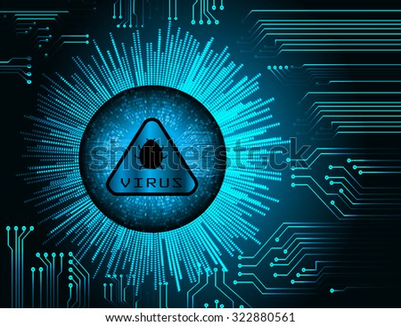 identifying a computer virus. Anti virus protection and computer security concept. PC. one zero. scan. technology digital website internet web. - stock vector