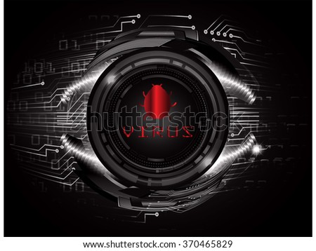 identifying a computer virus. Antivirus protection and computer security concept. PC. vector one zero. scan virus. technology digital website internet web. vector - stock vector