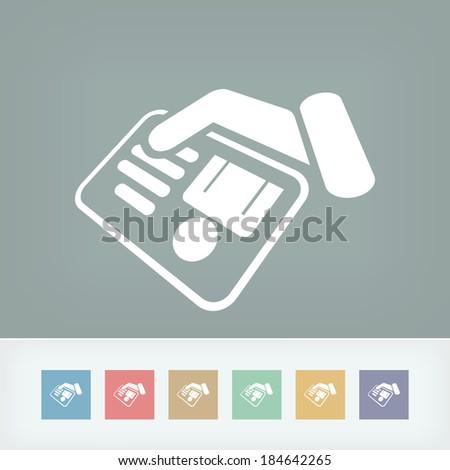 Identity card document - stock vector