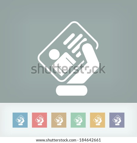 Identity card icon - stock vector