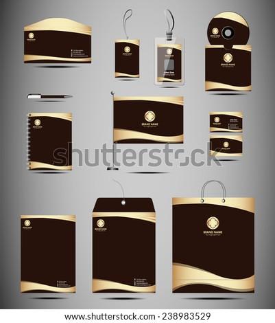 Identity Kit stationery element - stock vector
