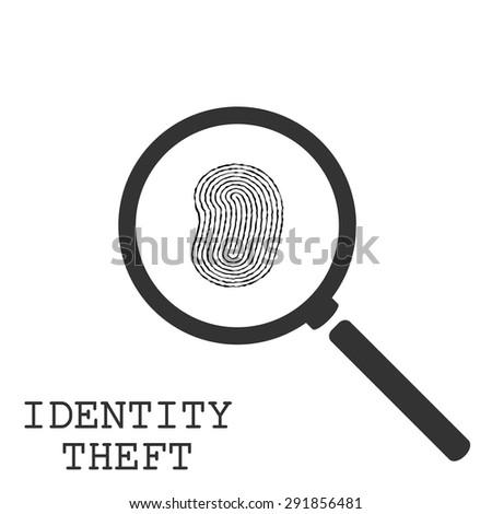 Identity Theft Illustration - stock vector