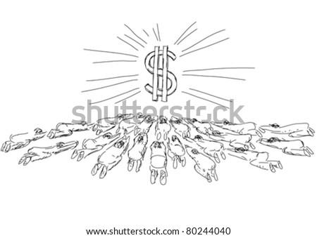 idolatry - stock vector