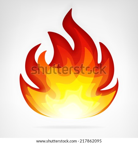 ignite fire flame vector element vector illustration - stock vector