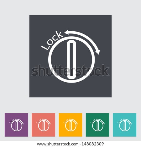 Ignition. Single flat icon. Vector illustration. - stock vector
