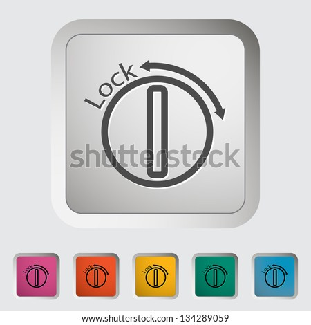 Ignition. Single icon. Vector illustration. - stock vector