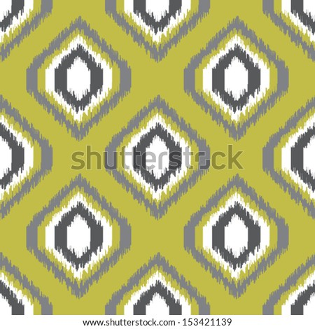 Ikat retro seamless pattern for web design or home decor - stock vector