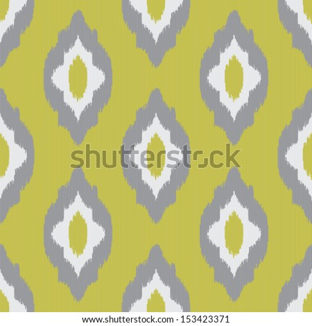 Ikat vintage seamless pattern for web design or home decor - stock vector