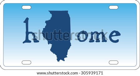 Illinois state license plate vector