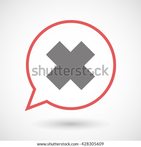 Illistration of an isolated line art comic balloon with an irritating substance sign - stock vector