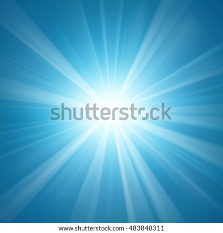 Illuminated blue light background