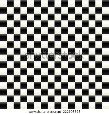 Illuminated checkered surface - stock vector