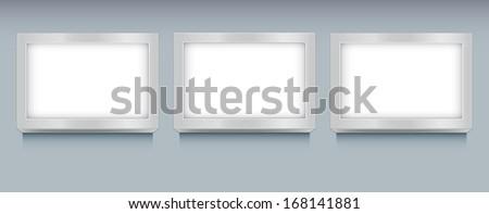 illuminated frame design - stock vector
