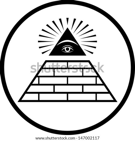 Illuminati Masonic Symbol Vector Isolated Stock Vector 147002117