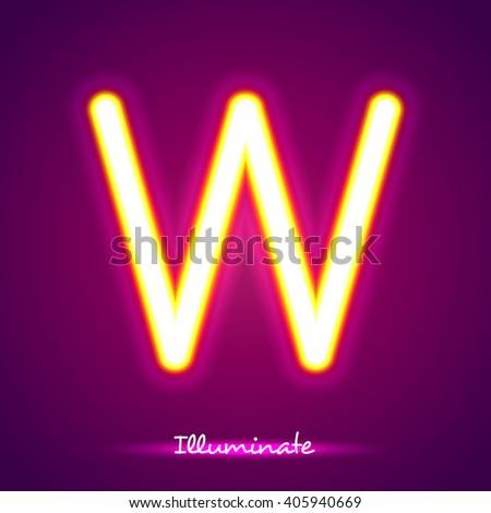 illumination w - stock vector