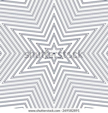 Illusive vector background with black chaotic lines, moire style. Contrast geometric trance pattern, optical backdrop.  - stock vector