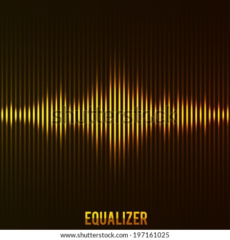 illustartion of digital equalizer - stock vector