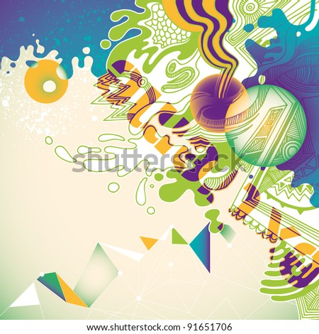 Illustrated abstract concept. Vector illustration.