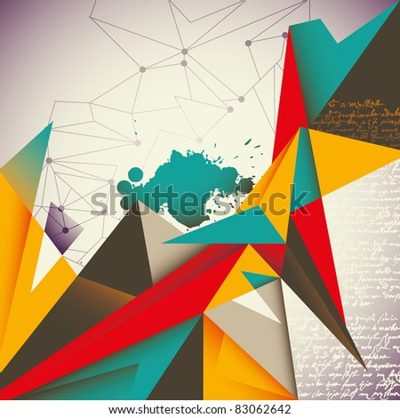 Illustrated abstract layout. Vector illustration. - stock vector