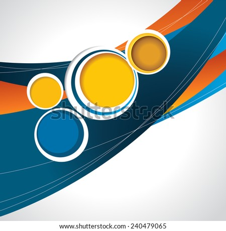 Illustrated colorful layout with abstraction. Abstract vector background. - stock vector