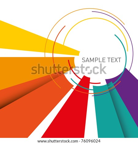 Illustrated colorful layout with abstraction. Vector illustration. - stock vector