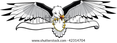 Illustrated Eagle with banner. Put what you want on banner.