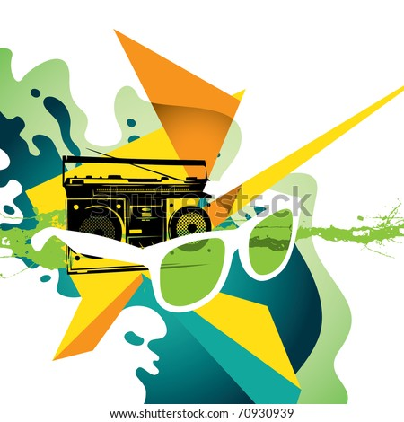 Illustrated modern designed colorful background. Vector illustration. - stock vector