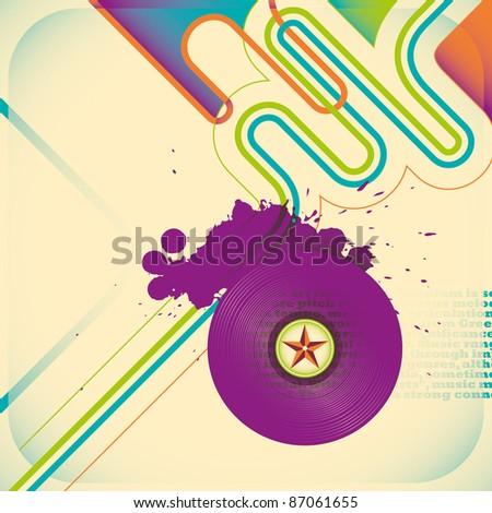 Illustrated music poster. Vector illustration. - stock vector
