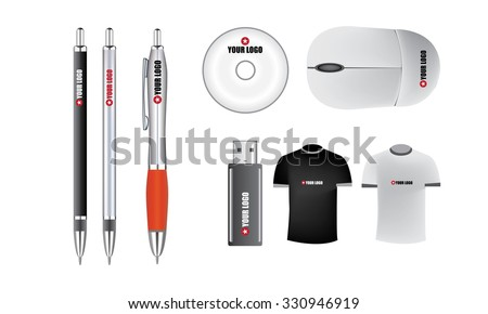 Illustrated promotion isolated vector objects for your clients - stock vector
