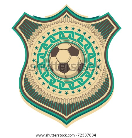 Illustrated retro football crest. Vector illustration. - stock vector