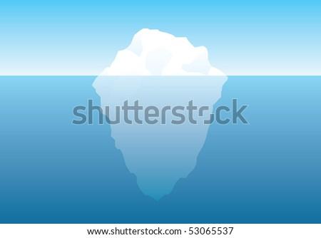 Illustrated vector iceberg - stock vector