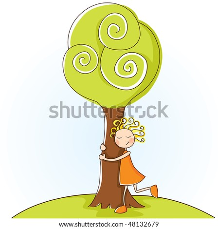 illustration about the love of the nature - stock vector