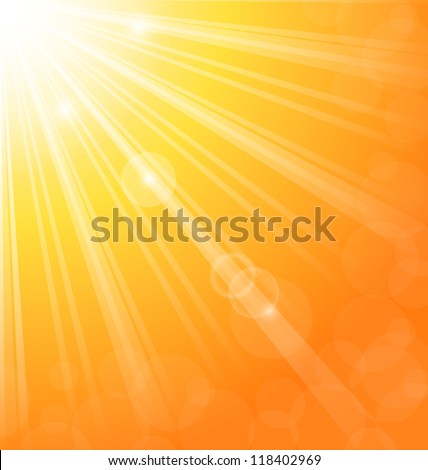 Illustration abstract background with sun light rays - vetcor - stock vector