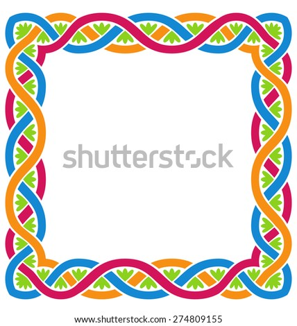 Illustration Abstract Celtic Weaving Framework, Isolated on White Background - Vector - stock vector