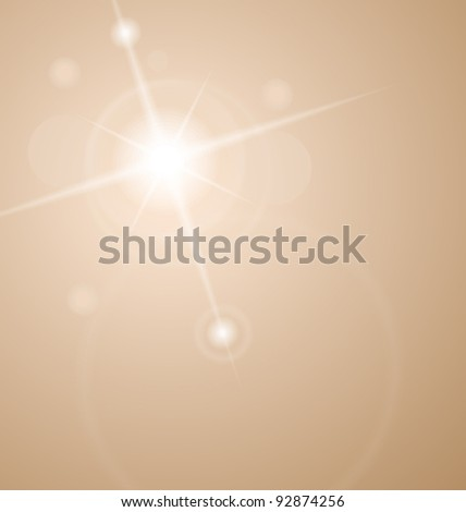 Illustration abstract star with lenses flare - vector - stock vector