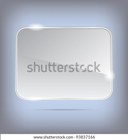 Illustration abstract transparent glass banner - vector - stock vector