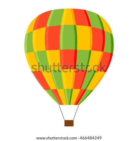 Illustration aerostats flat icons cartoon graphic