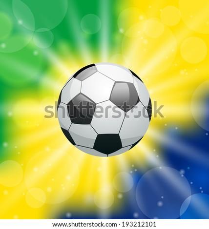 Illustration background with soccer ball, for Brazil 2014 - vector - stock vector