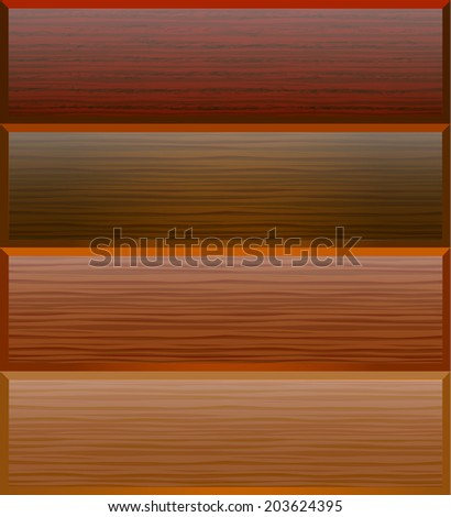 illustration background with textures of wood for advertising - stock vector