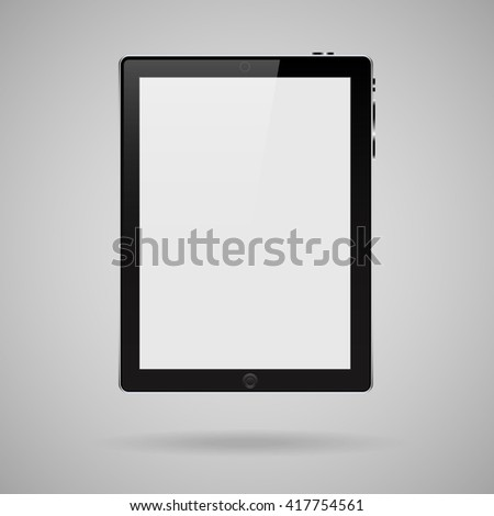 illustration business tablet to work to draw background - stock vector