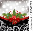 Illustration Christmas glowing packing, ornamental design elements - vector - stock vector