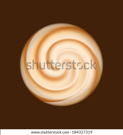 Illustration coffee and milk cream texture - vector - stock vector