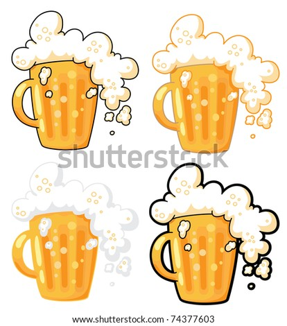 illustration collection of lager beer - stock vector